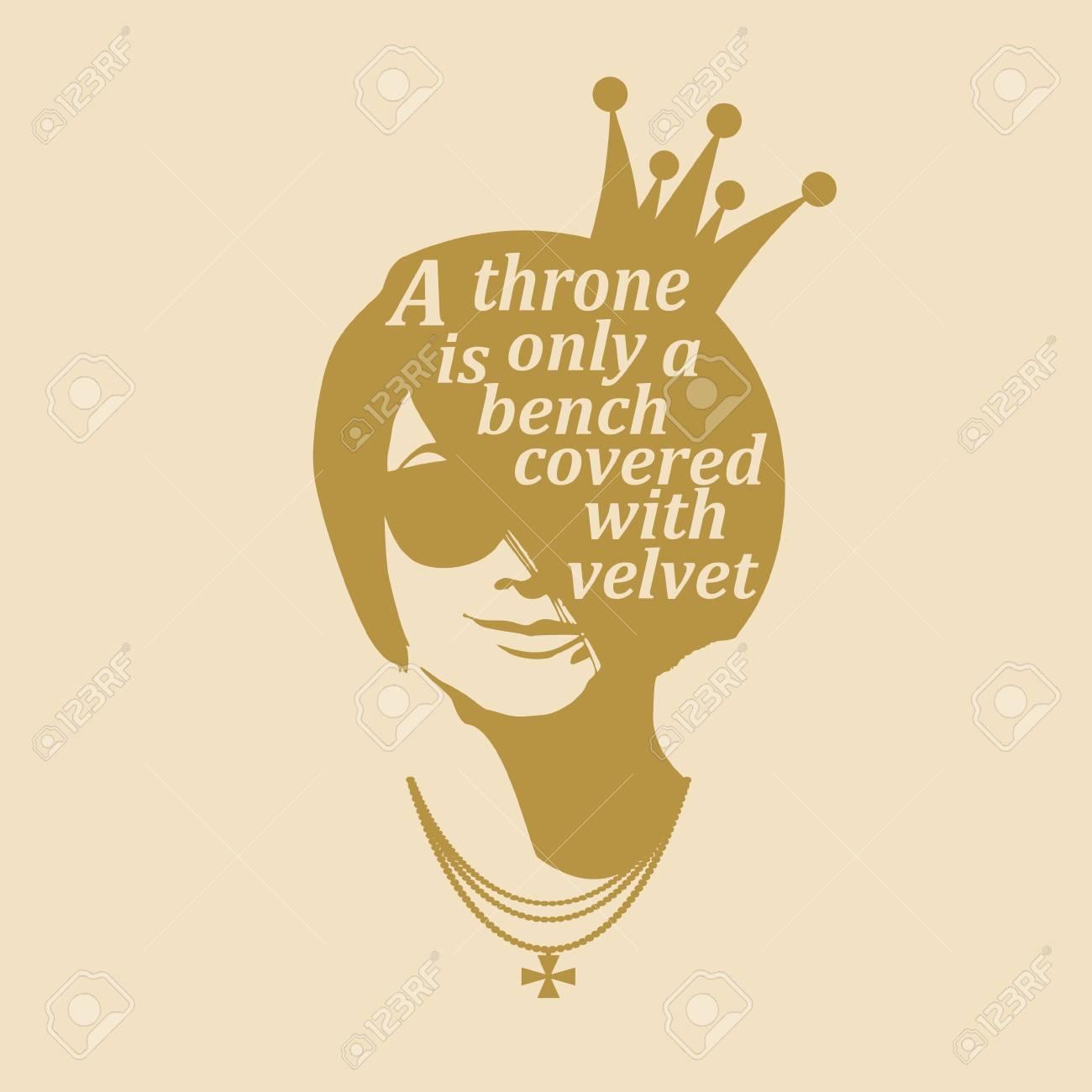Vintage princess silhouette. Elegant portrait of beautiful woman..