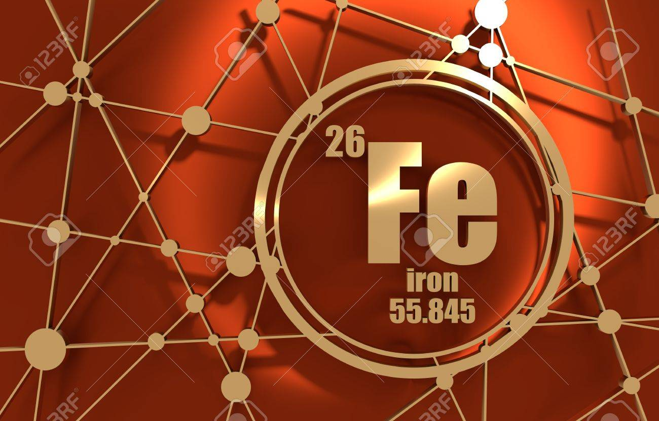 Iron chemical element sign with atomic number and atomic weight iron chemical element sign with atomic number and atomic weight chemical element of periodic urtaz Images