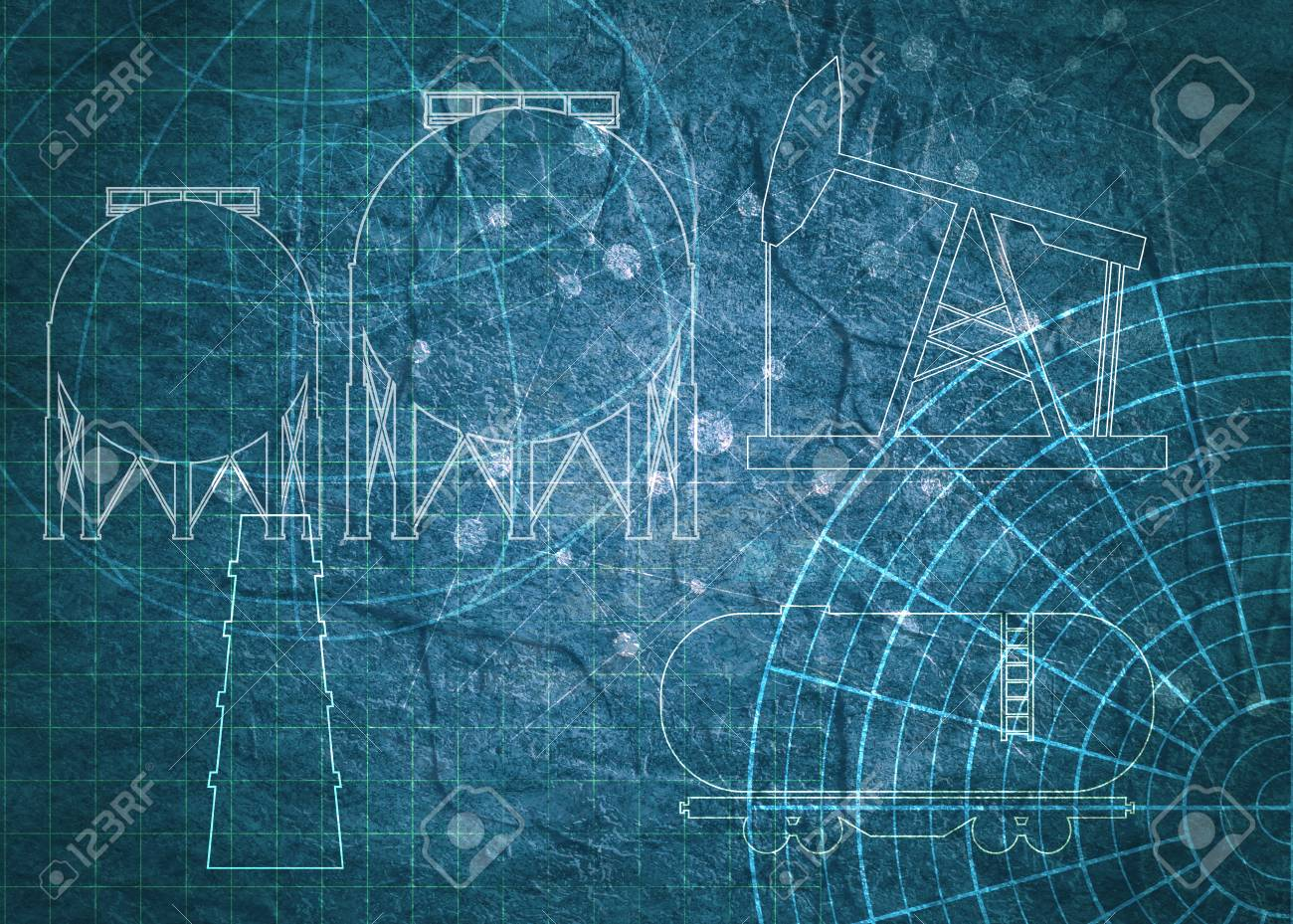 Old blueprint background texture technical backdrop paper outline old blueprint background texture technical backdrop paper outline silhouettes on concrete textured backdrop stock malvernweather Images