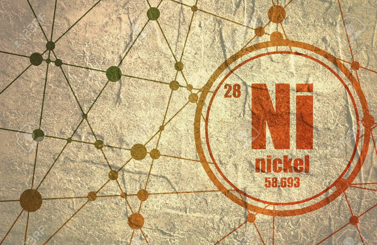 Nickel chemical element sign with atomic number and atomic weight nickel chemical element sign with atomic number and atomic weight chemical element of periodic urtaz Choice Image