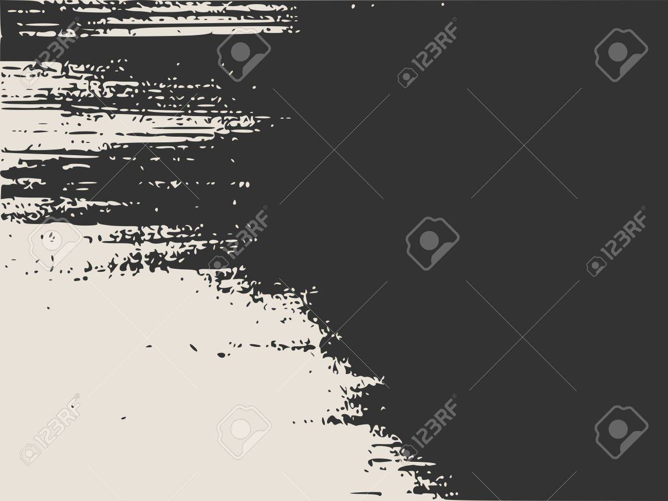 Grunge Vector Texture Template. Dark Messy Dust Overlay Distress ...