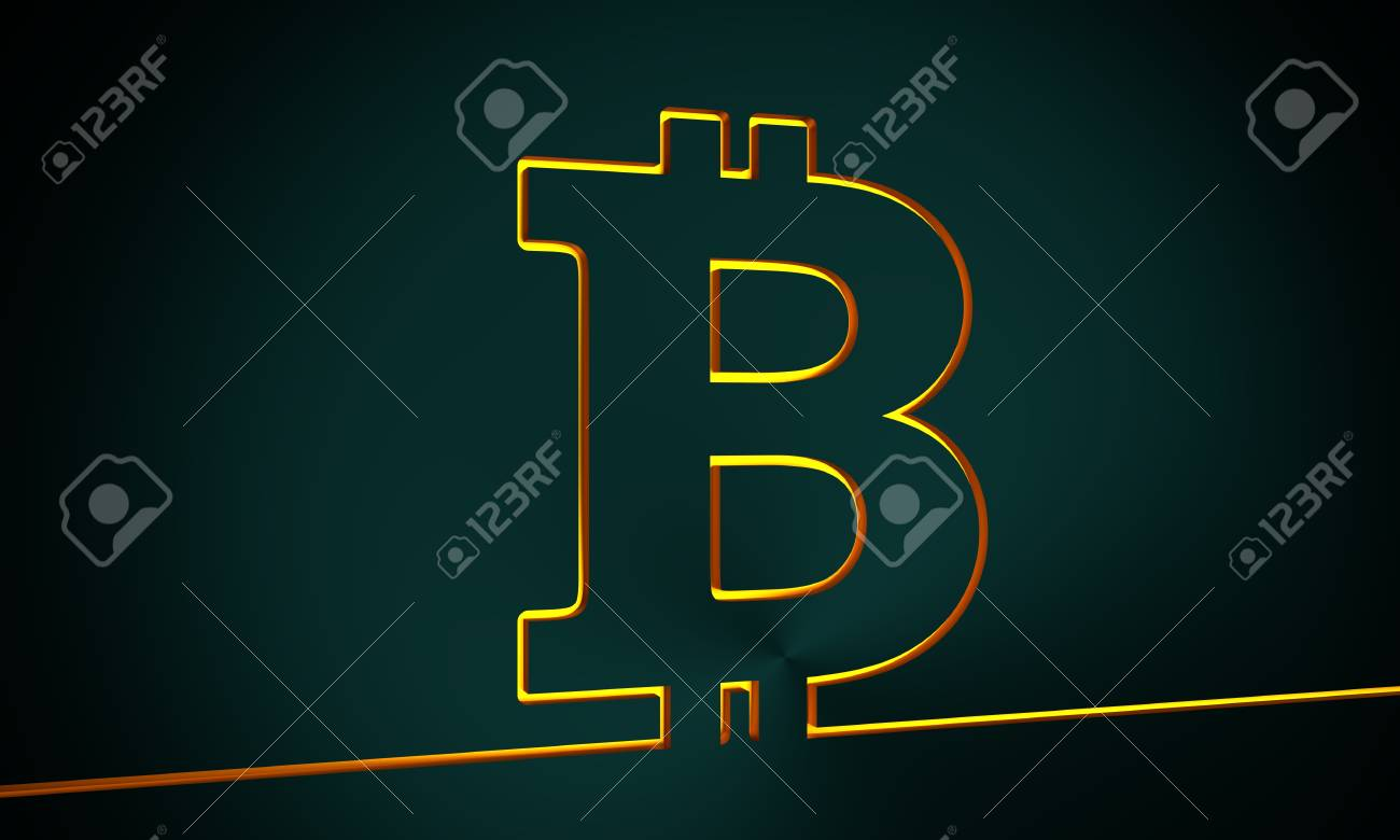 Bitcoin Sign Icon For Internet Money Crypto Currency Symbol