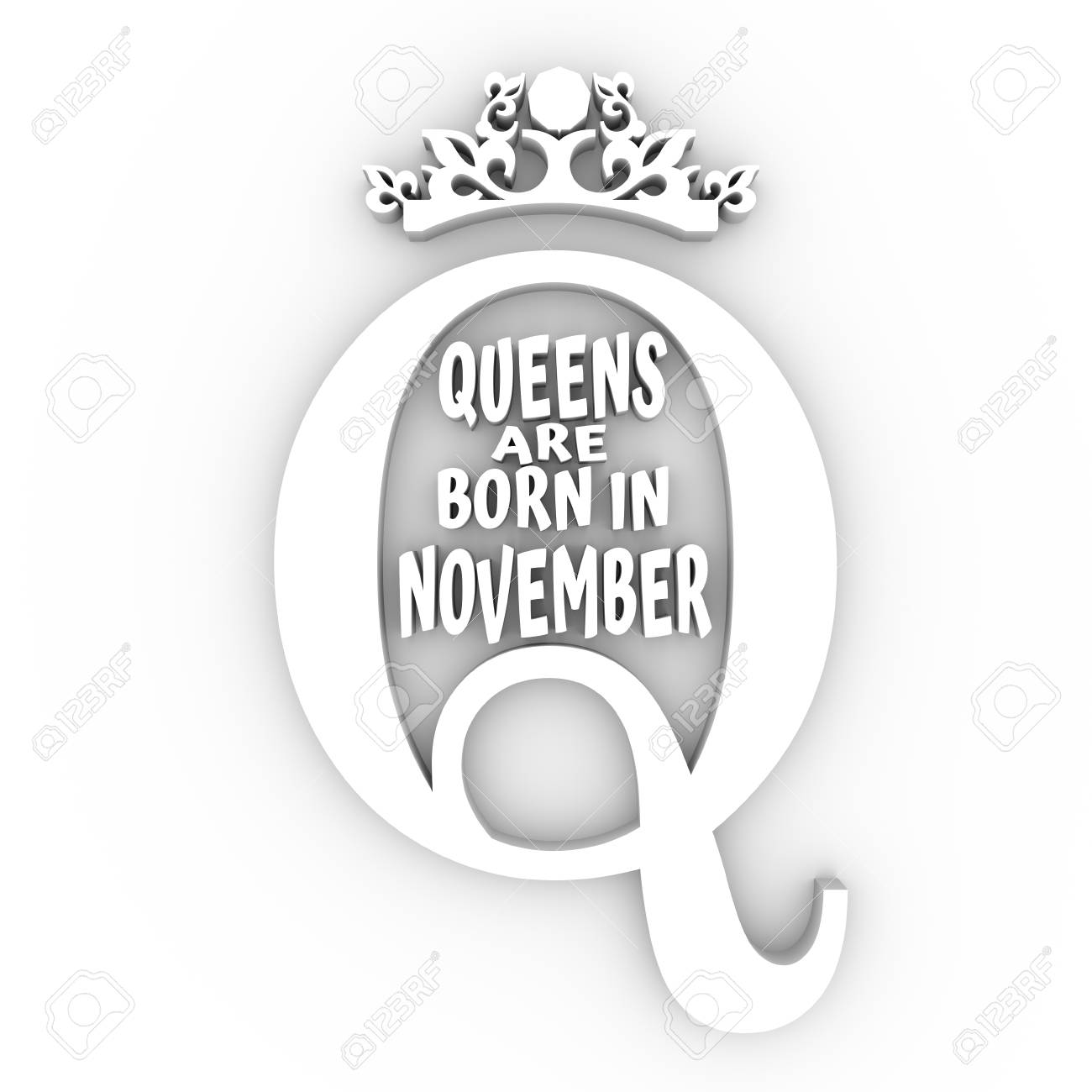 Vintage Queen Crown Silhouette. Royal Emblem With Q Letter. Queens ...