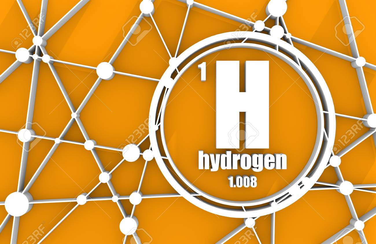 Hydrogen chemical element sign with atomic number and atomic hydrogen chemical element sign with atomic number and atomic weight chemical element of periodic urtaz Choice Image