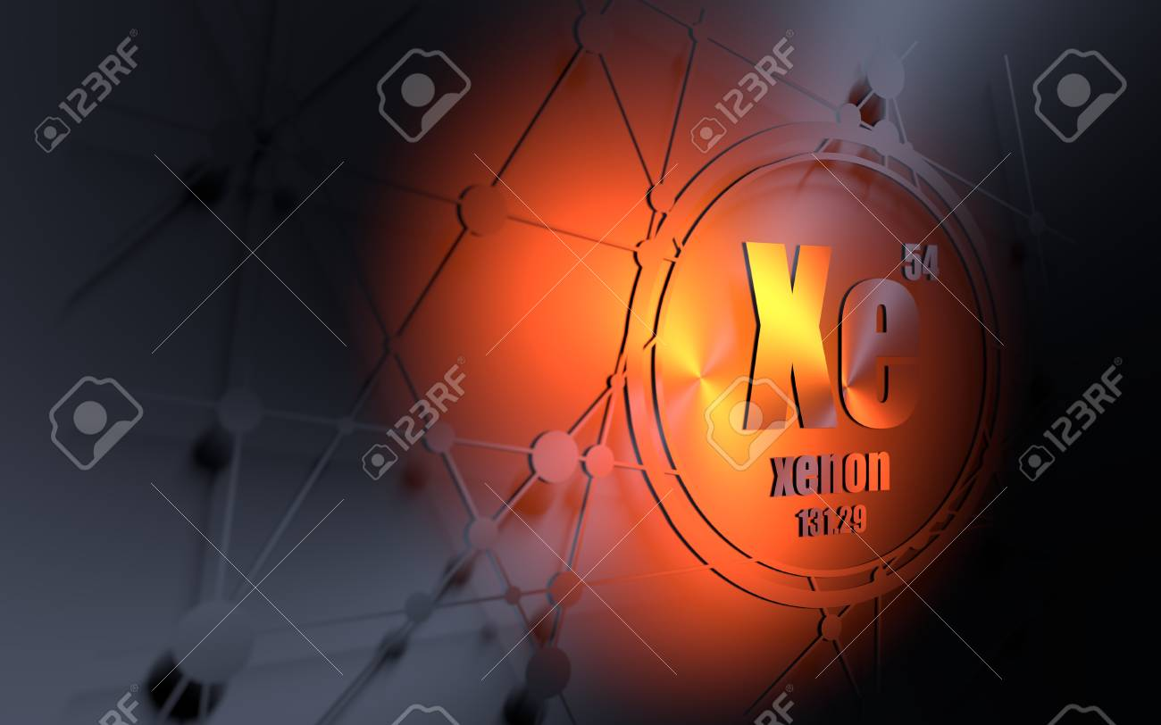 Xenon chemical element sign with atomic number and atomic weight sign with atomic number and atomic weight chemical element of periodic urtaz Image collections