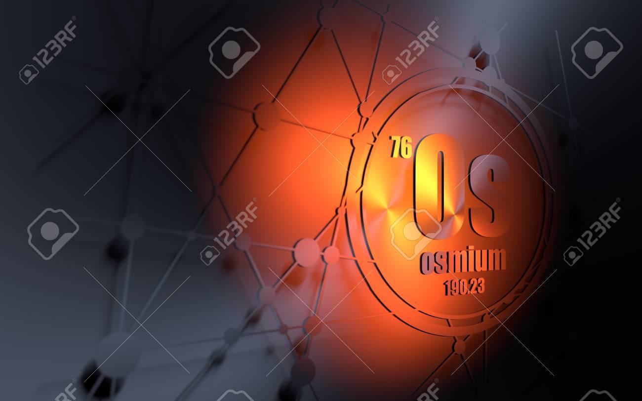 Osmium chemical element sign with atomic number and atomic weight osmium chemical element sign with atomic number and atomic weight chemical element of periodic urtaz Images