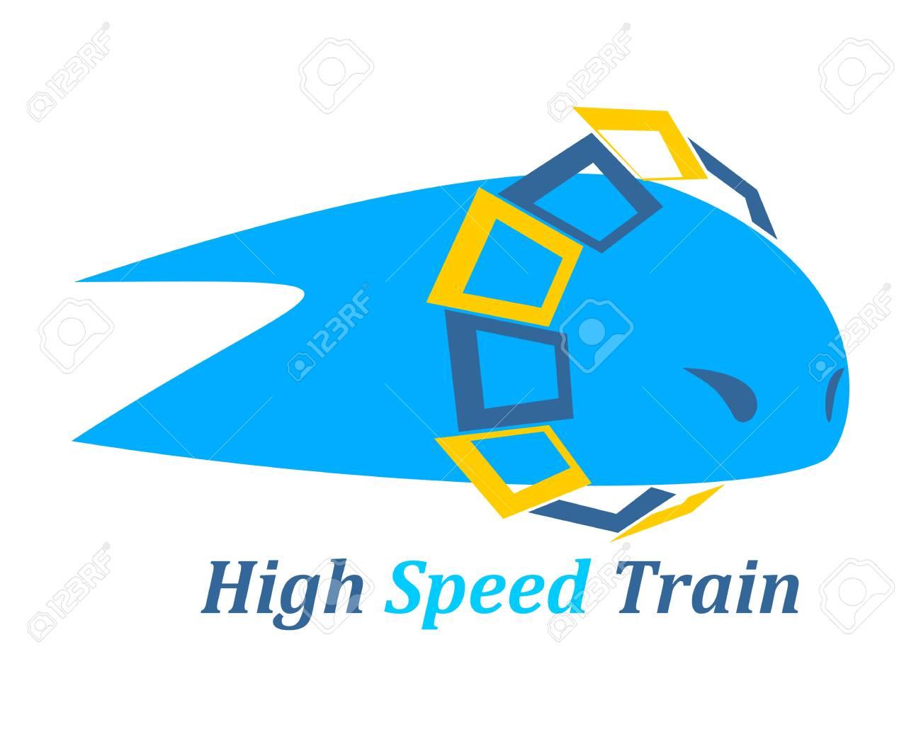 Geometric shape  Minimal abstract train emblem template