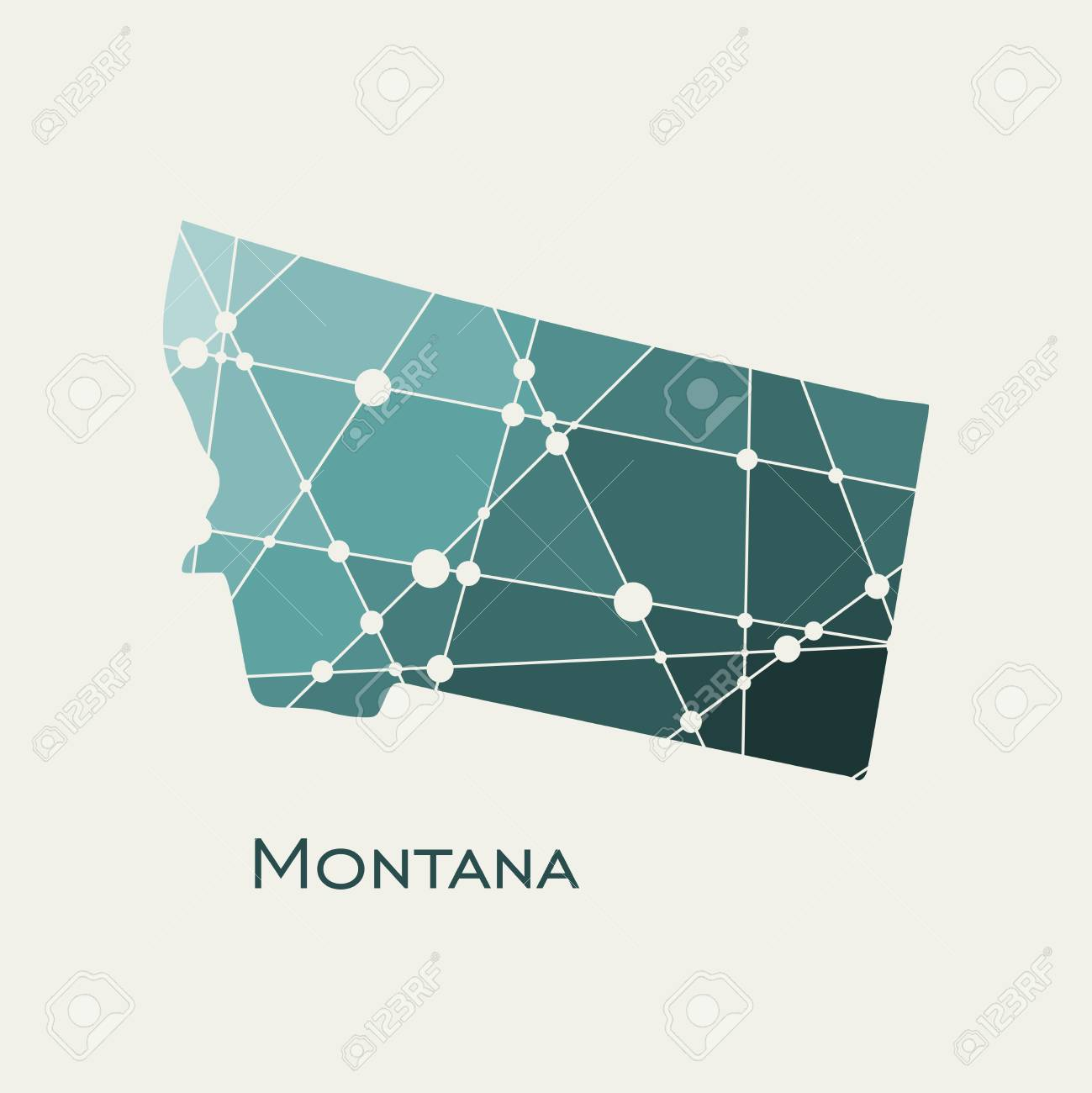 Image Relative To Usa Travel Montana State Map Textured By Lines