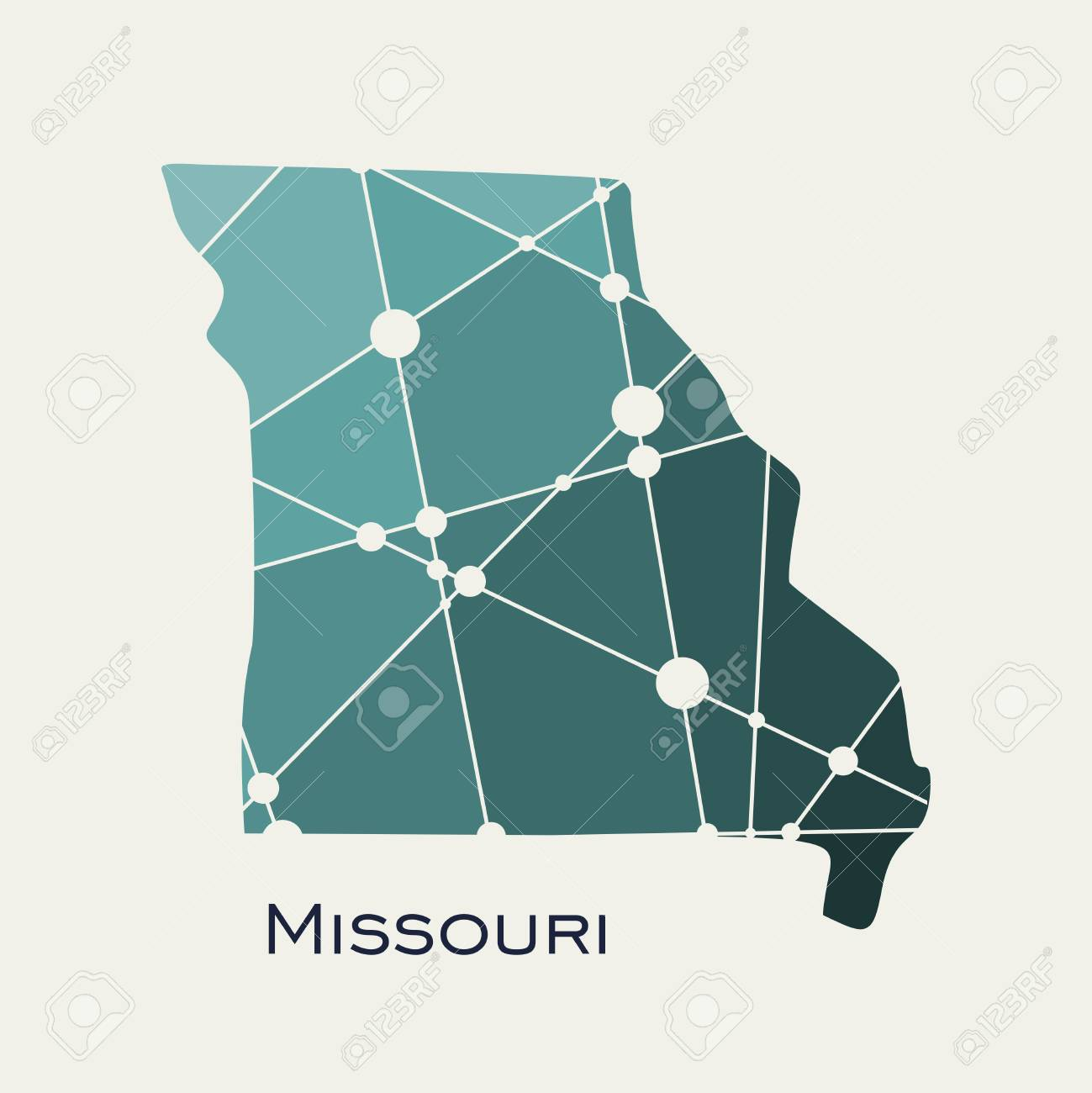 Image Relative To Usa Travel Missouri State Map Textured By