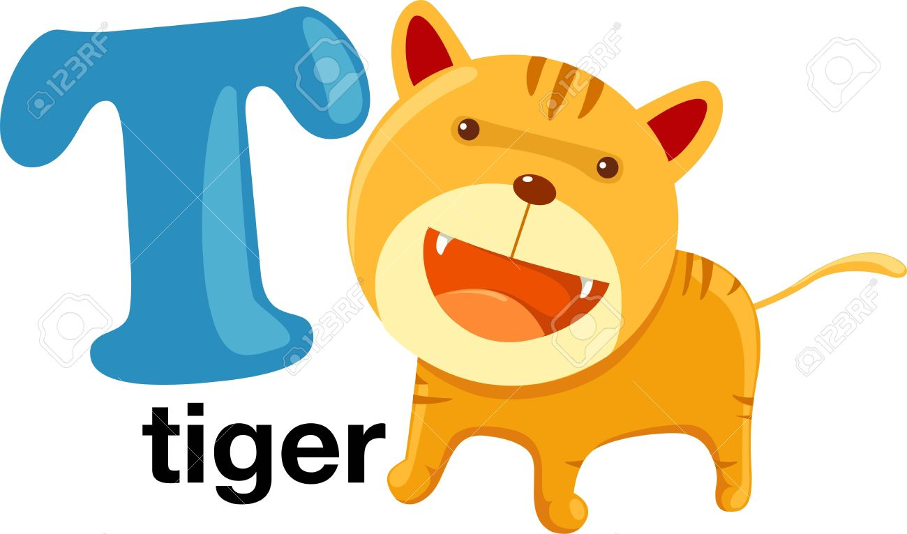 Animal Alphabet Letter t Royalty Free Cliparts, Vectors, And Stock