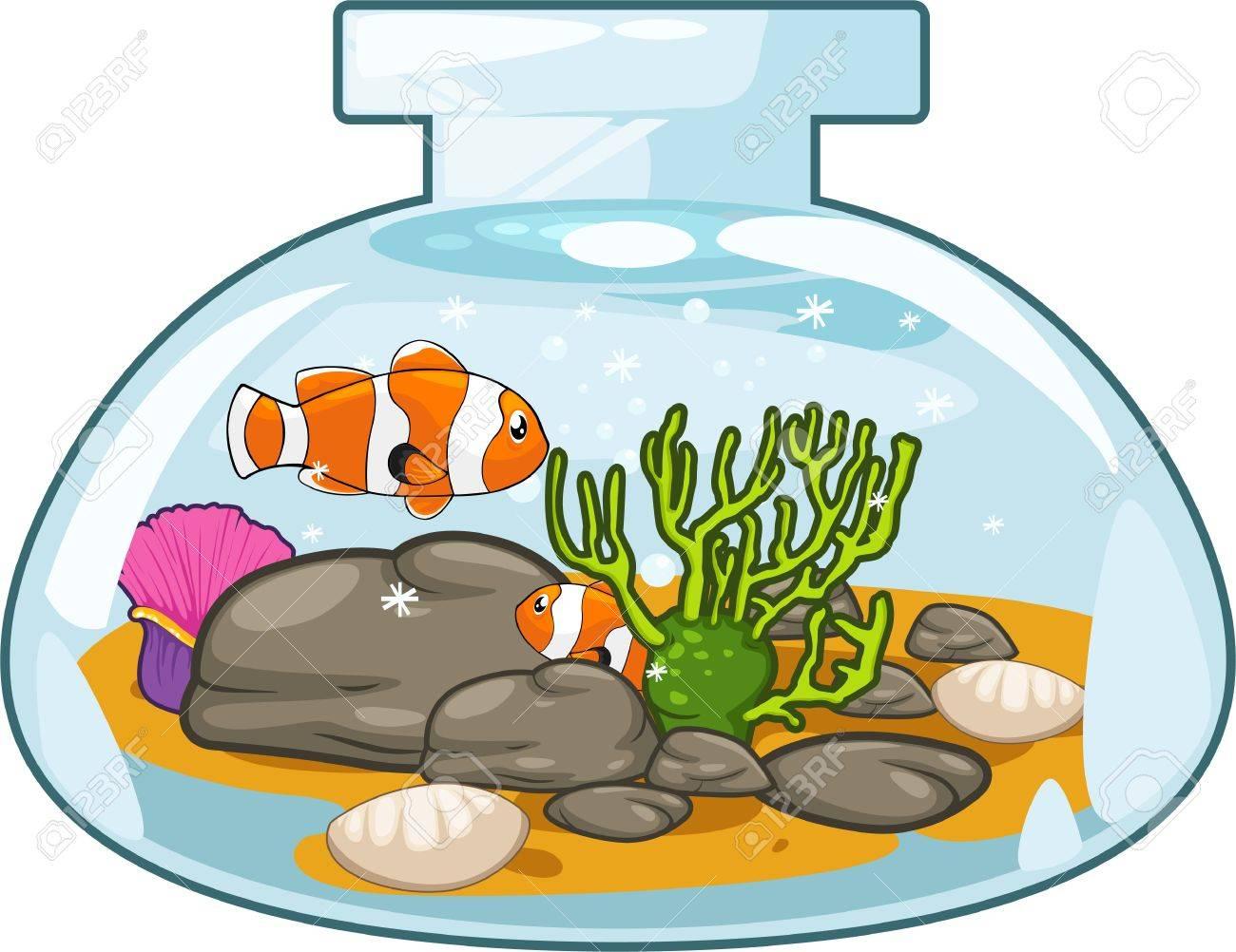 Fish tank clipart - Aquarium Background Illustration Aquarium Illustration