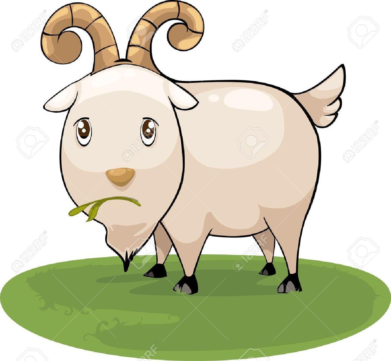 illustration cartoon goat vector Stock Vector - 12702648