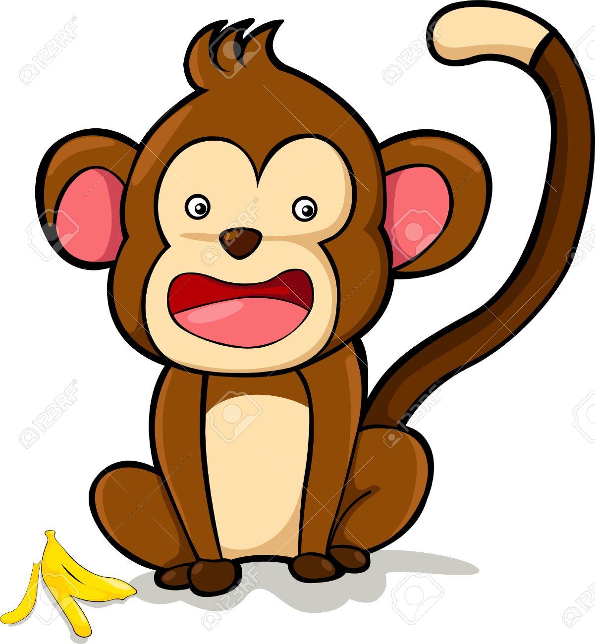illustration monkey  vector file Stock Vector - 12702689