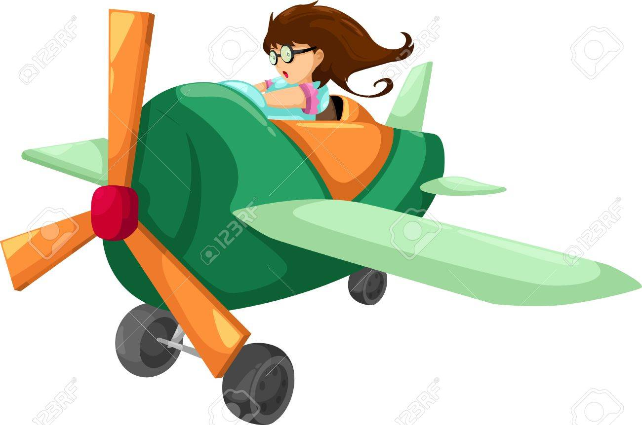 The woman pilot isolated vector illustration Stock Vector - 12702936