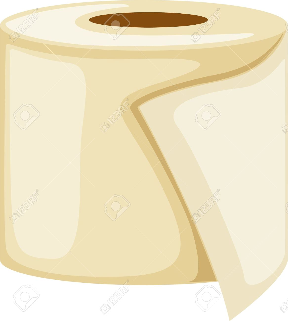 Toilet Paper Roll Royalty Free Cliparts, Vectors, And Stock ...