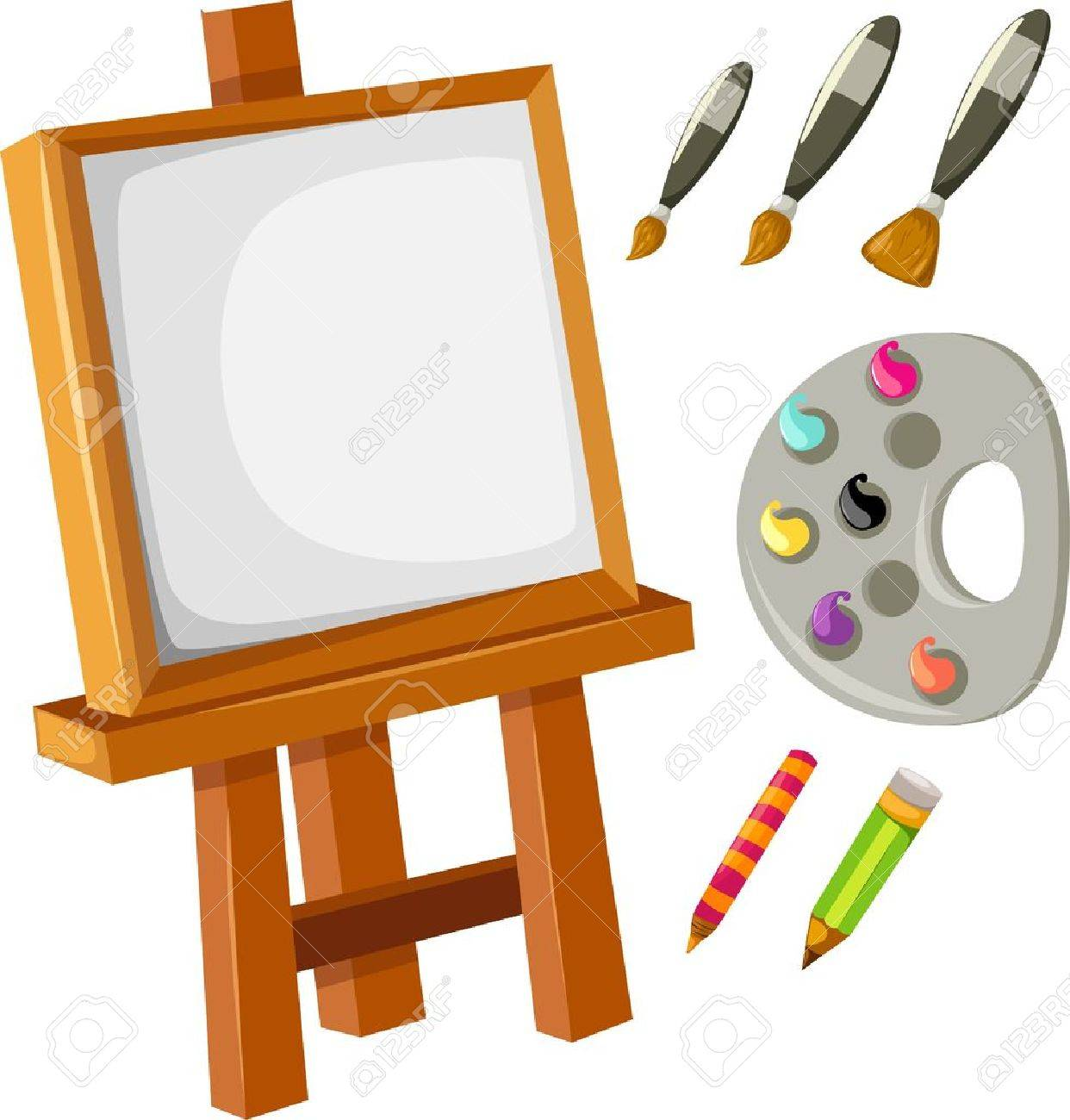 4,771 Easel Canvas Stock Vector Illustration And Royalty Free ...