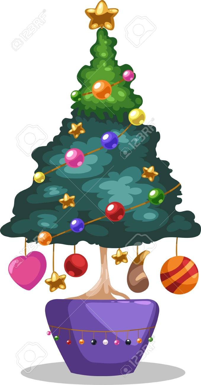Christmas tree isolated vector illustration Stock Vector - 12703129