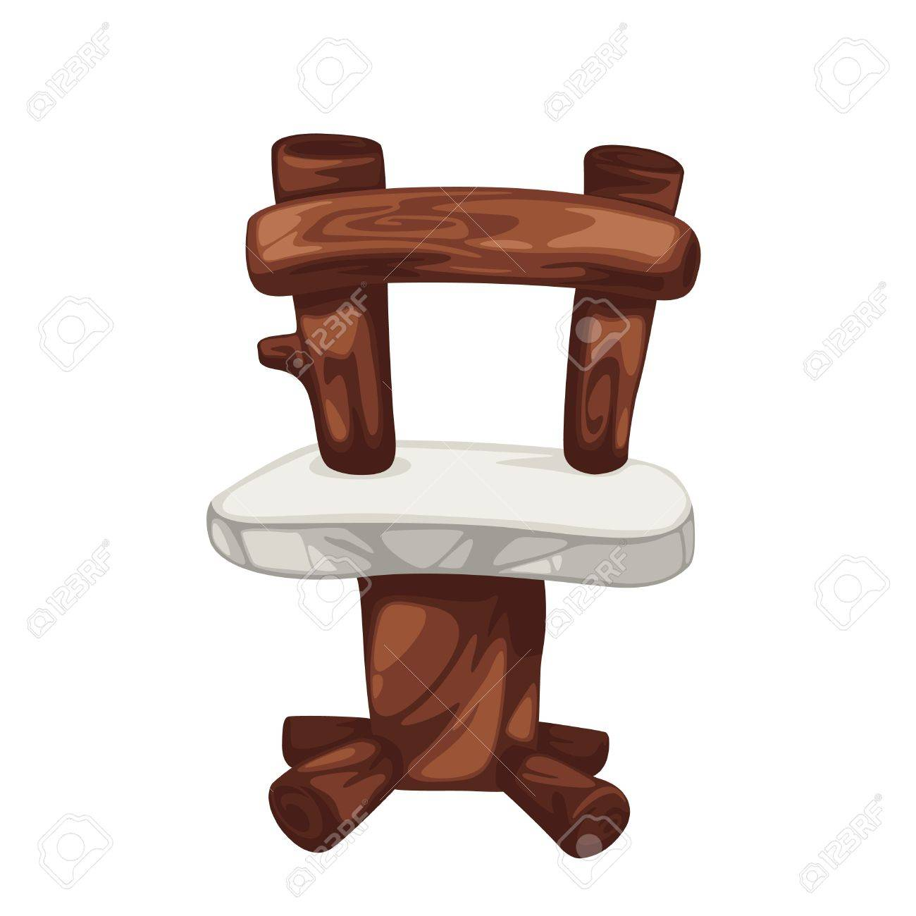 wood chair prehistoric isolated of illustration Stock Vector - 13509794