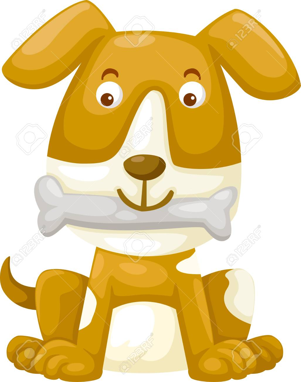 dog with bone Illustration Stock Vector - 15286825