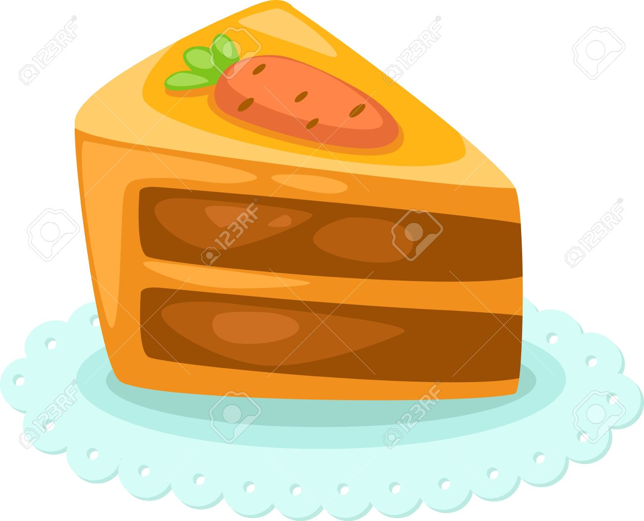 cake vector illustration Stock Vector - 15454357