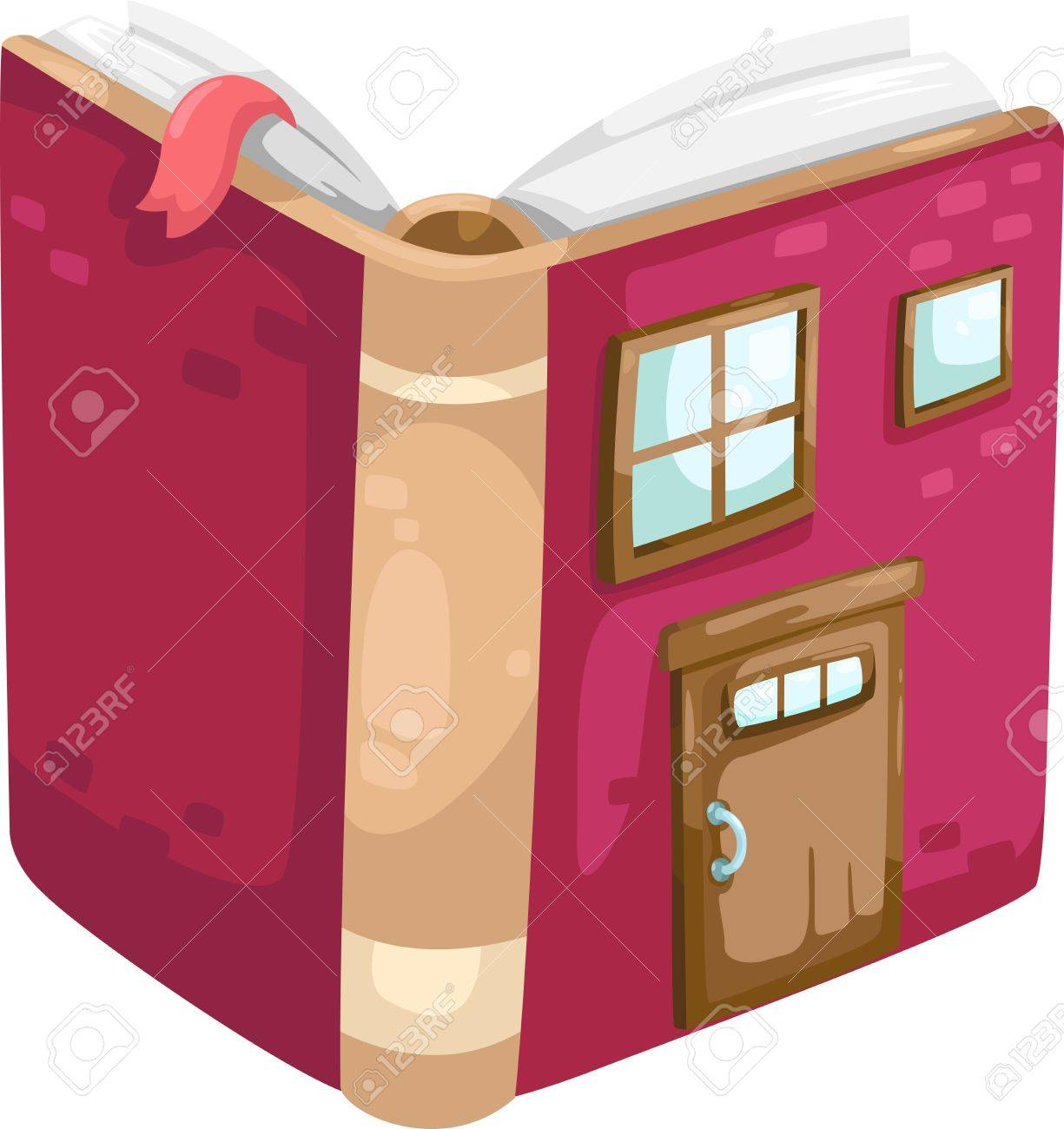 book house  Illustration Stock Vector - 15657173