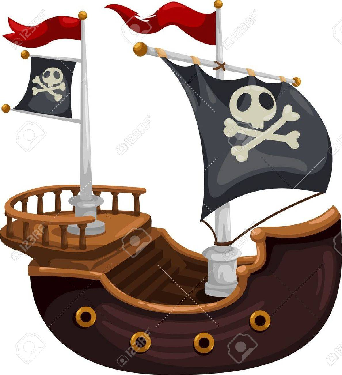 Stock Illustrations of Pirate Ship - a dangerous Pirate Ship ...