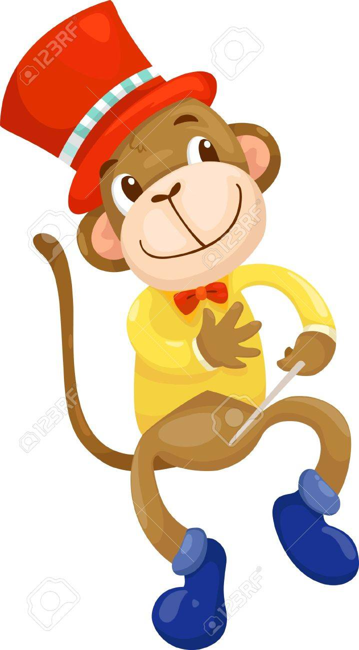 circus monkey  vector illustration Stock Vector - 15657235
