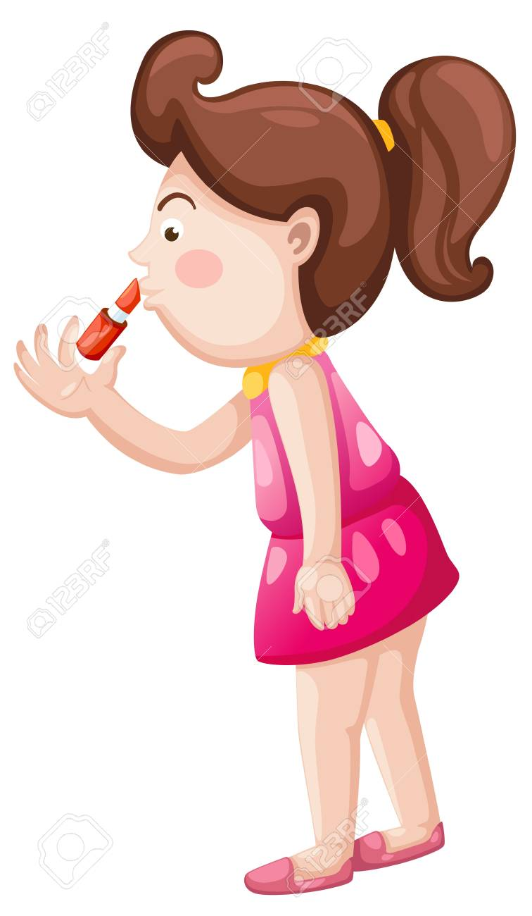 girl with lipstick Stock Vector - 16739291