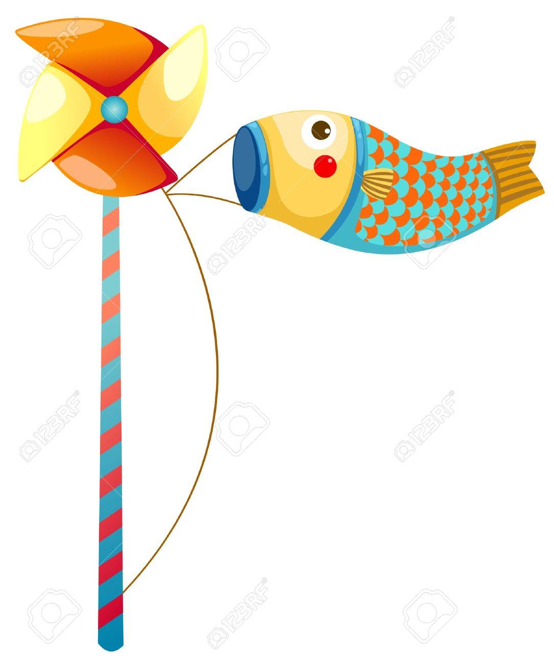 Japanese koi carp windsocks Stock Vector - 16739305