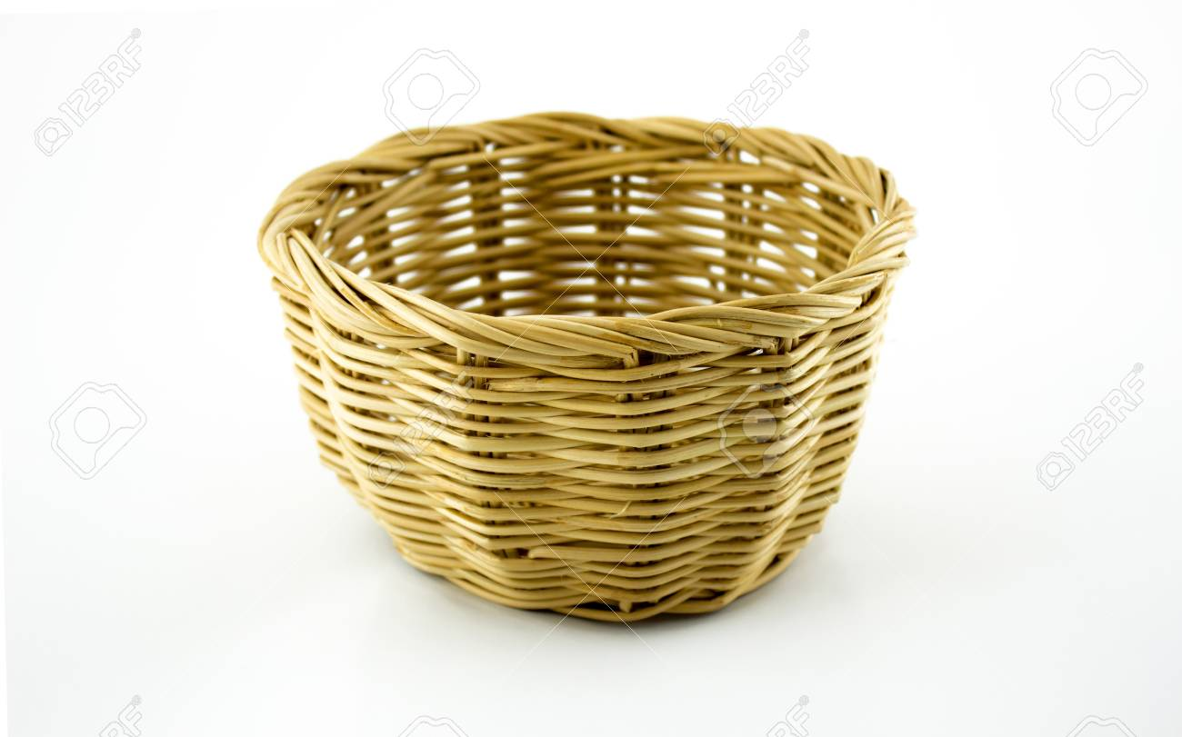 Basket on white background Stock Photo - 16874057
