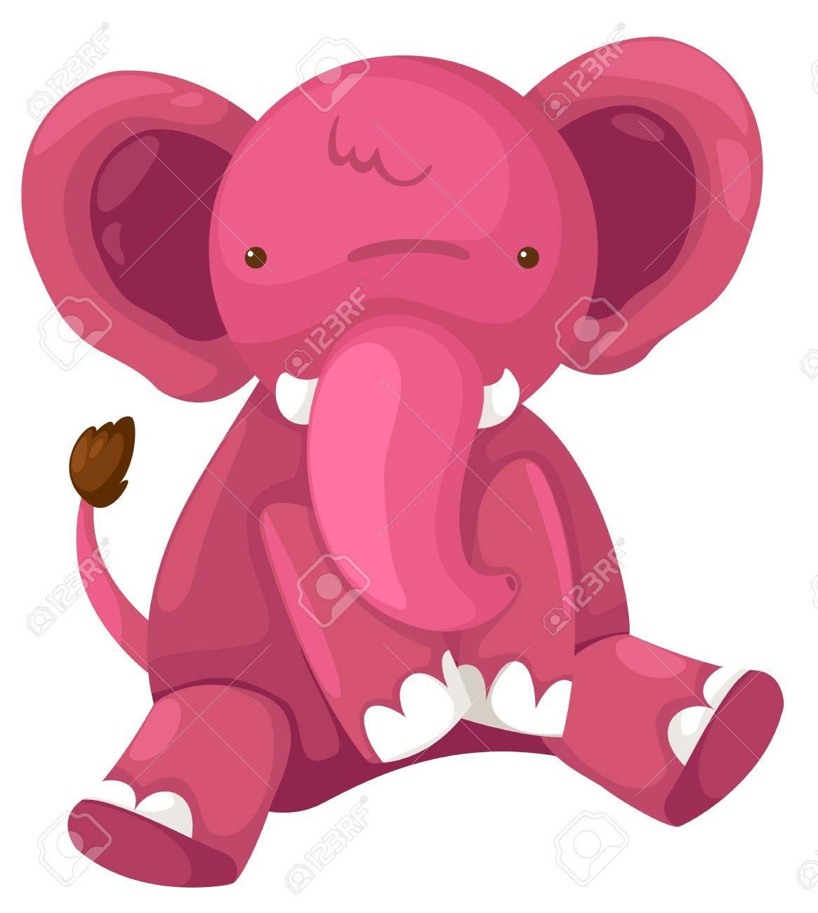 pink elephant vector Stock Vector - 16887112