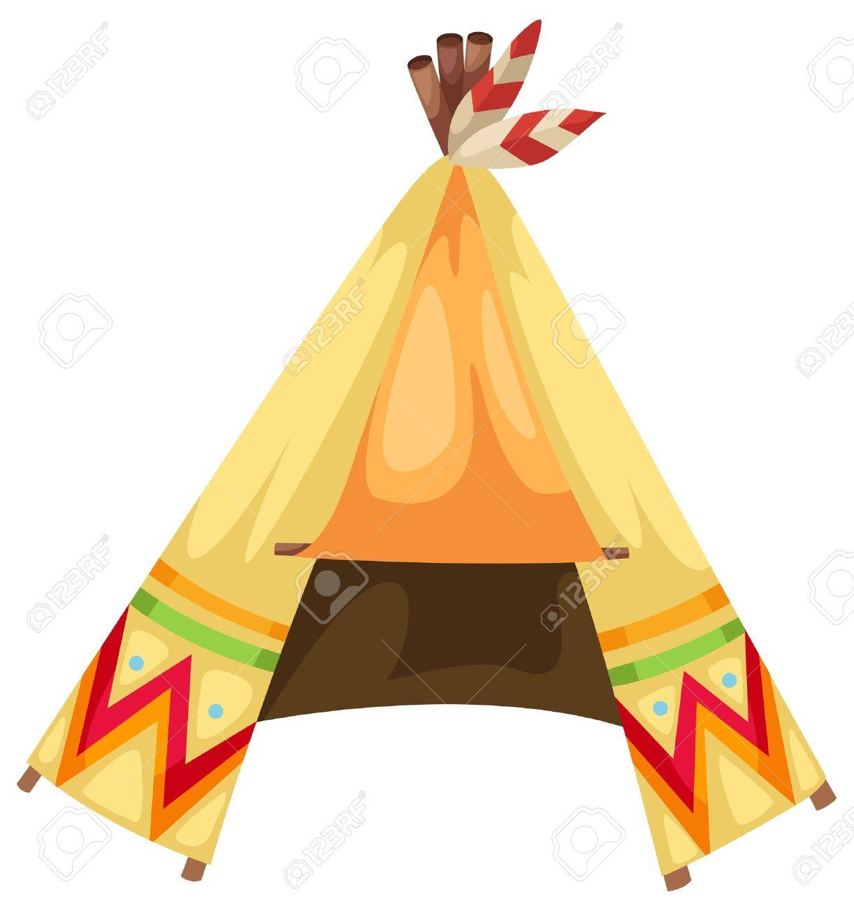 cartoon indians tepee vector Stock Vector - 16887126  sc 1 st  123RF.com & Cartoon Indians Tepee Vector Royalty Free Cliparts Vectors And ...