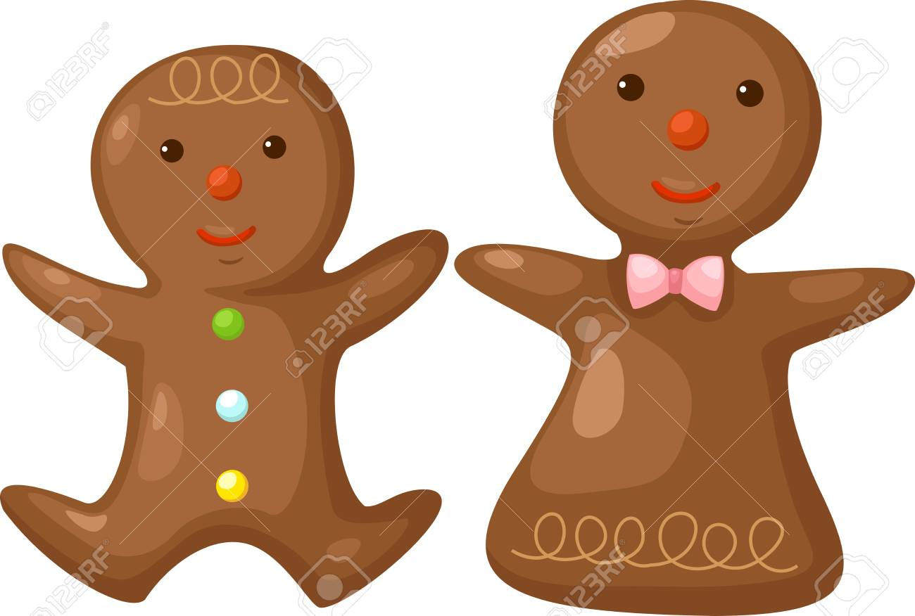 Gingerbread   Vector illustration   on white background Stock Vector - 17623558