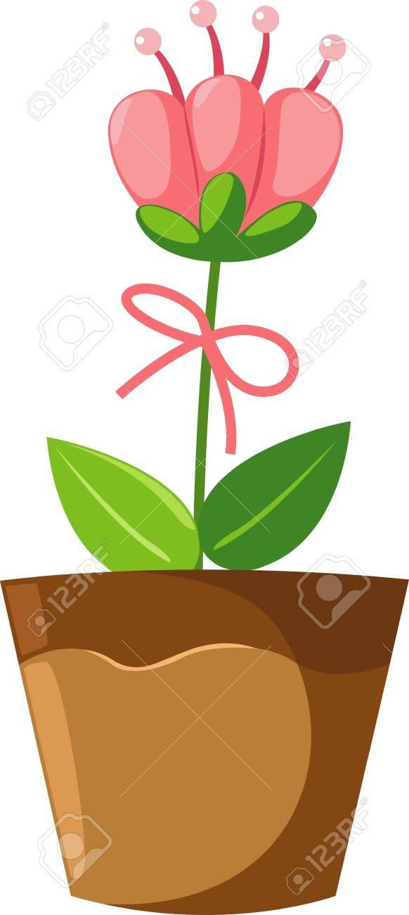 flower in pot Stock Vector - 17848352