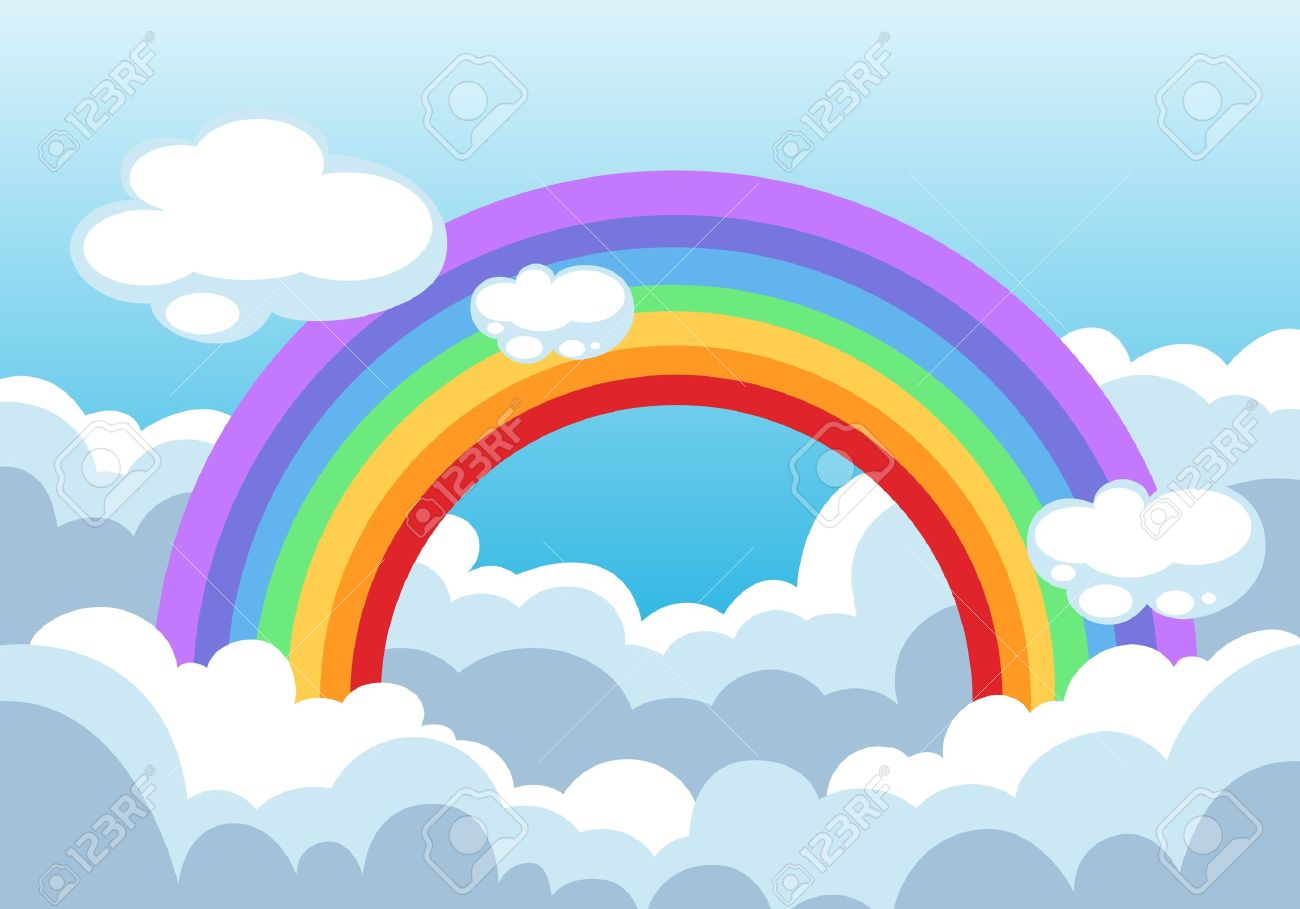 rainbow and clouds in the sky background royalty free cliparts rh 123rf com free vector sky free vector skydiving