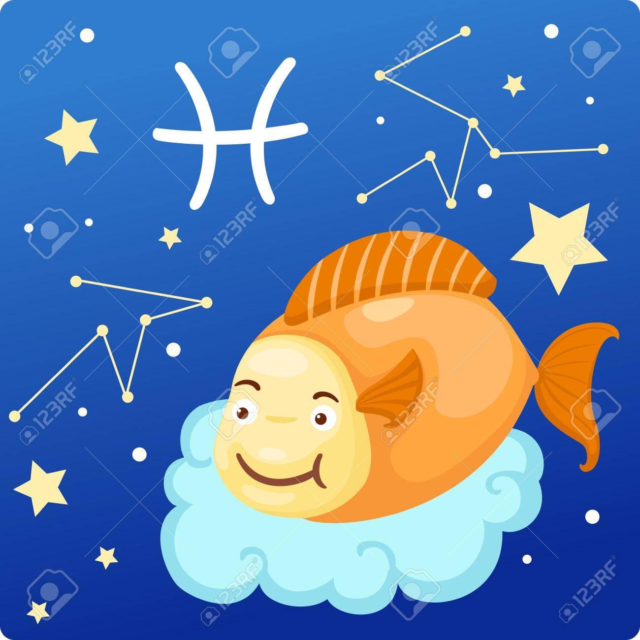 Zodiac signs - Pisces Illustration Stock Vector - 17848819