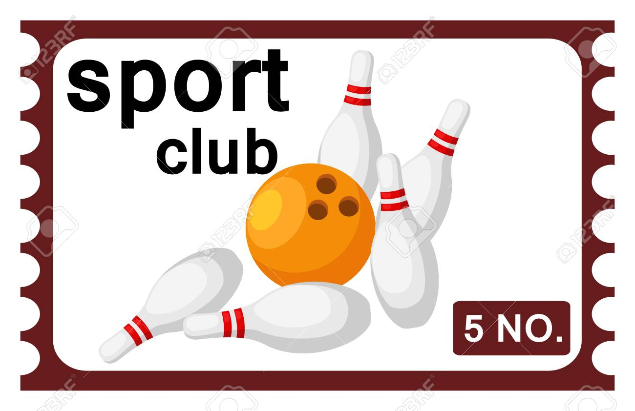 illustration of isolated ticket bowling Stock Vector - 20194278