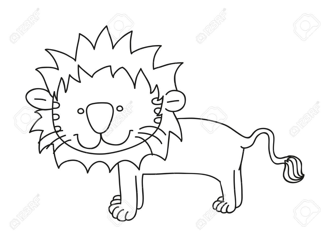 illustration of isolated hand drawn lion vector Stock Vector - 21163694
