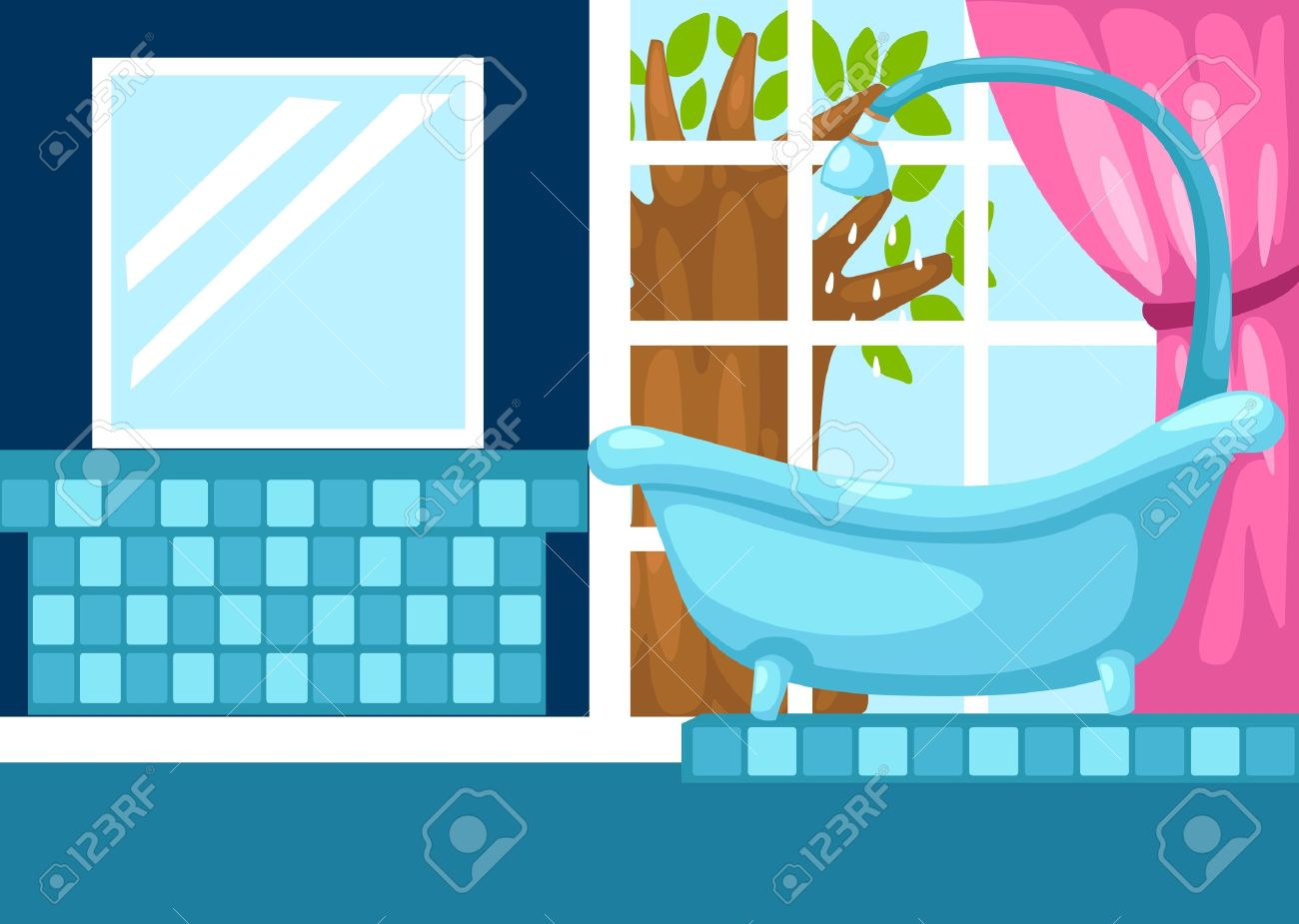 Illustration Of Bathroom Vector Stock