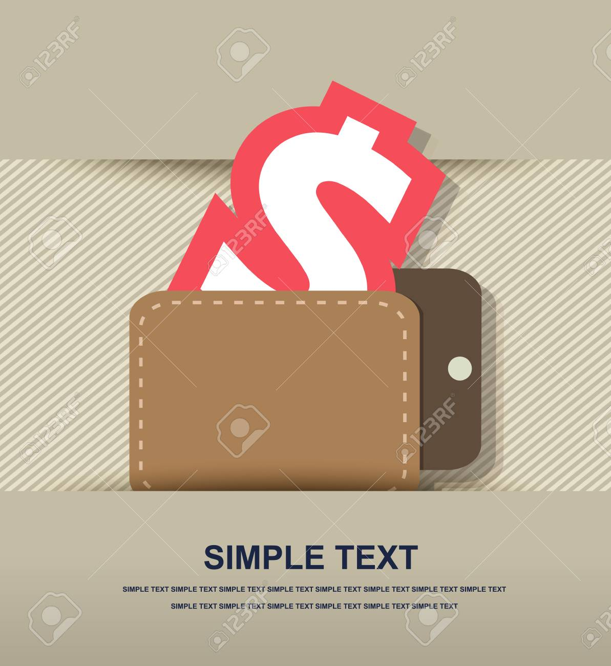 Wallet with dollars icon Stock Vector - 28128627