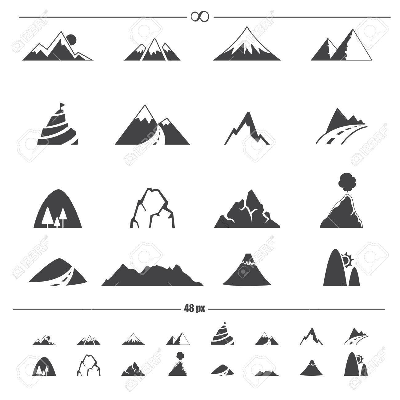 Mountain icons - 28389078
