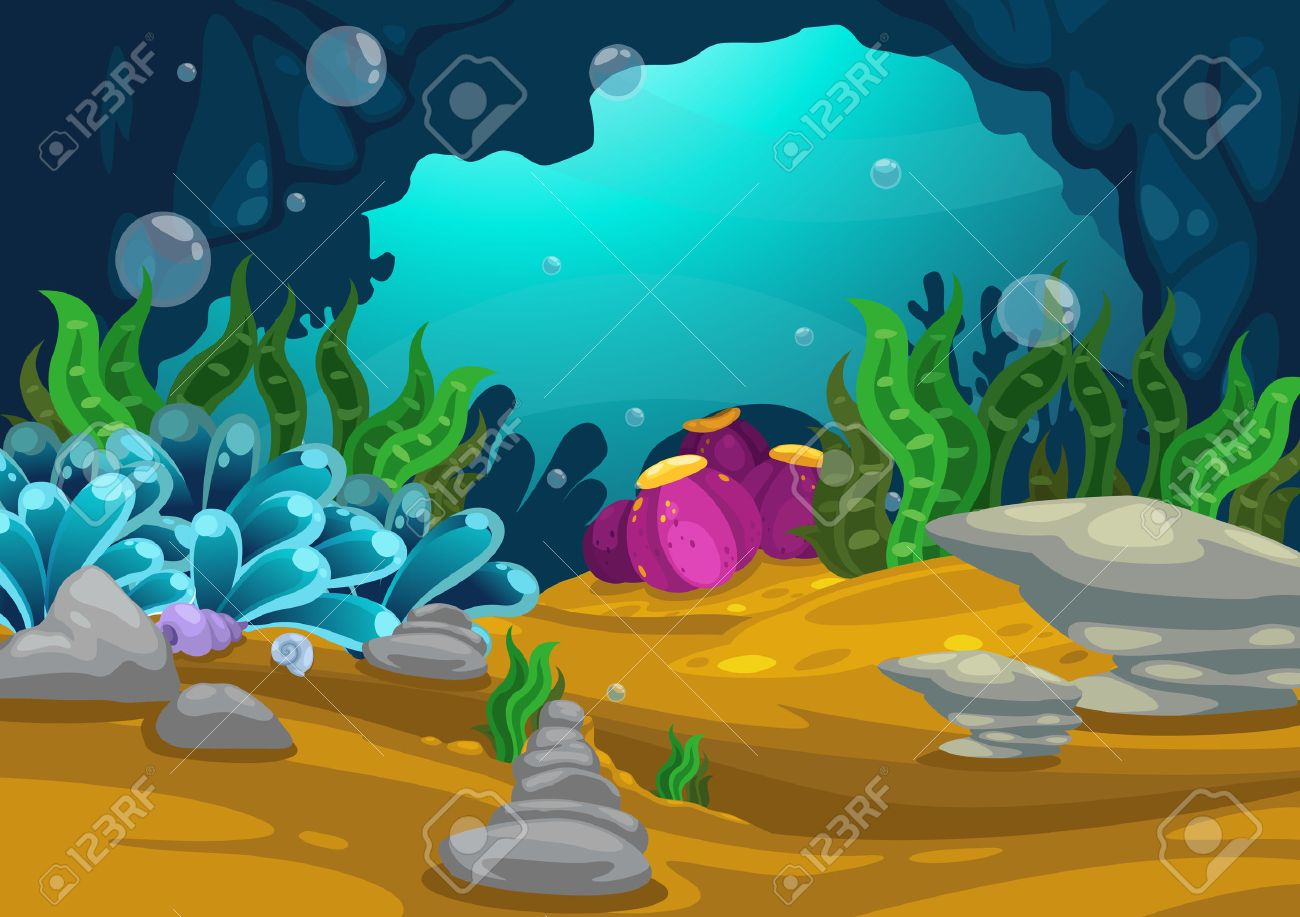 Illustration Of Under The Sea Background Vector Royalty Free Cliparts Vectors And Stock Illustration Image 33283381