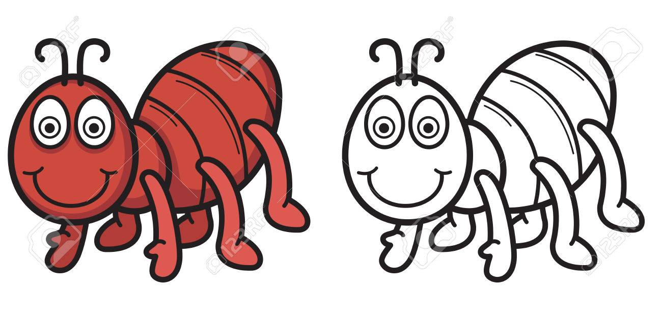 illustration of isolated colorful and black and white ant for rh 123rf com Apple Clip Art Black and White Apple Clip Art Black and White