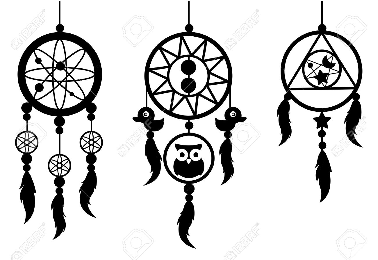 illustration of indian dream catcher vector royalty free cliparts rh 123rf com dream catcher vector free dreamcatcher vectoriel
