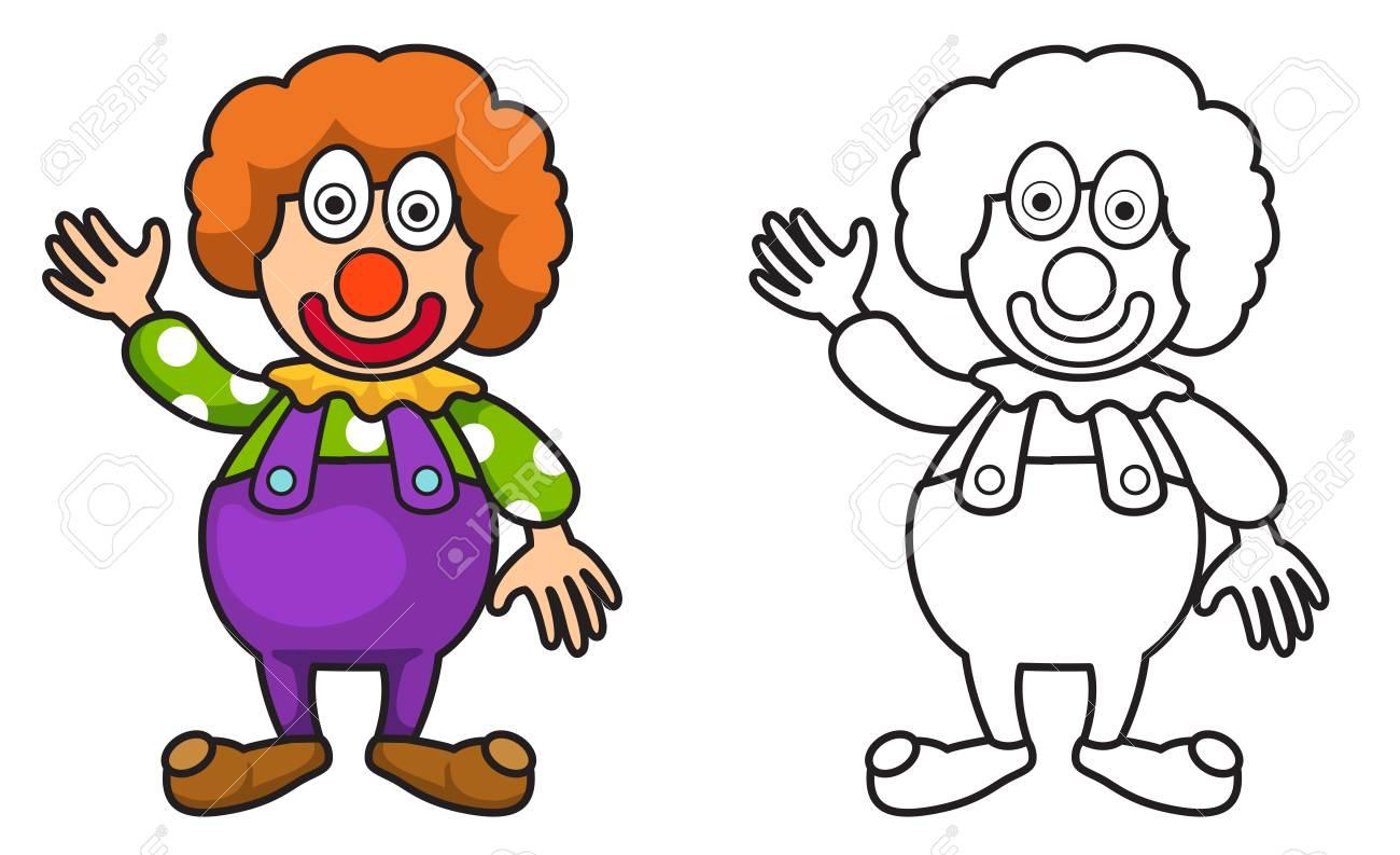 Ilustración De Joker Colorido Y Negro Y Blanco Aisladas De Libro Para Colorear