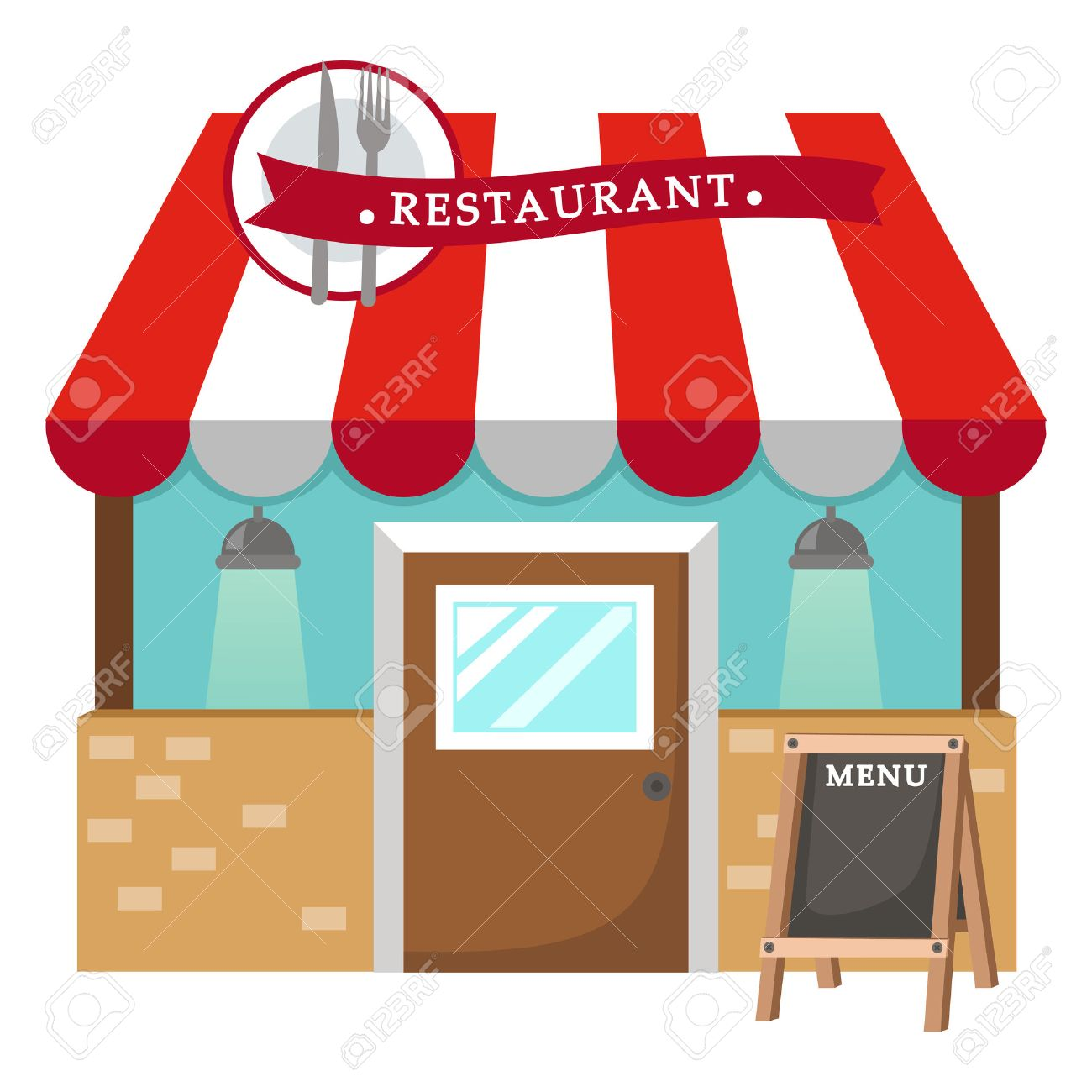illustration of isolated restaurant vector royalty free cliparts rh 123rf com restaurant clipart logo restaurant clipart free download