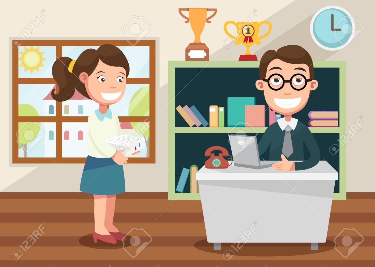 Lavoro Ufficio Clipart : Lavora in ufficio clipart royalty free vettori e illustrator