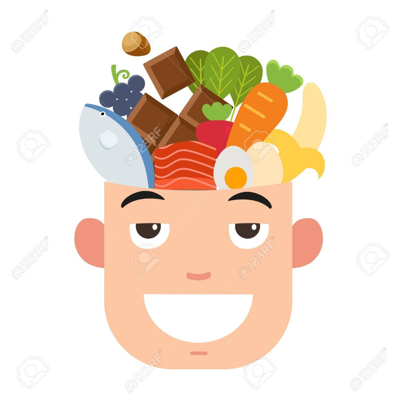 Brain power food,vector illustration - 47114708