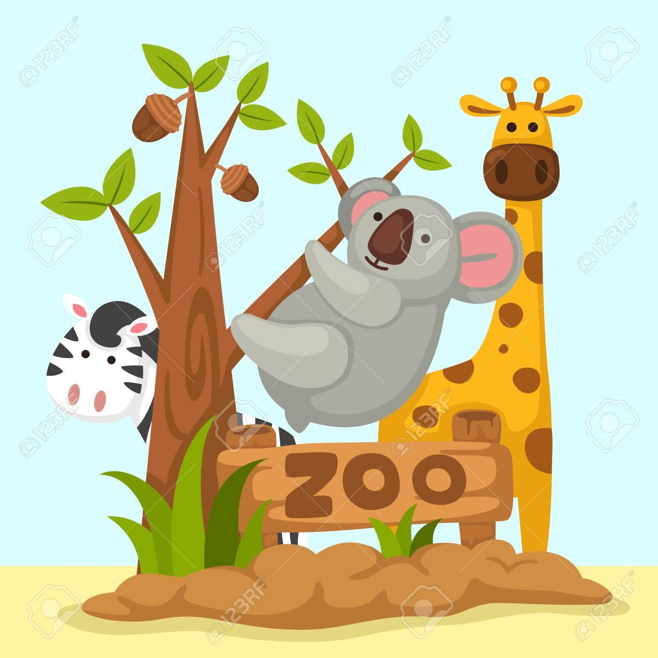 illustration of isolated animal zoo - 52129852
