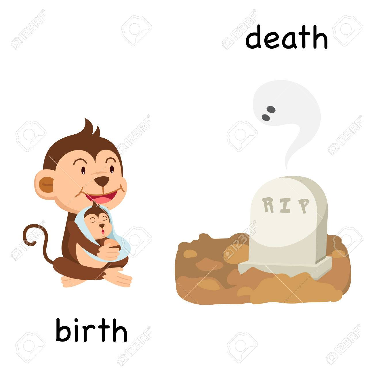 opposite birth and death vector illustration royalty free cliparts vectors and stock illustration image 82182148 opposite birth and death vector illustration